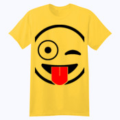 Emoji Tongue Out Winking - Softstyle™ youth ringspun t-shirt