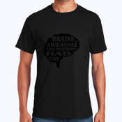 Brains Are Awesome - Heavy Cotton 100% Cotton T Shirt
