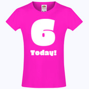 Customizable Childs Birthday T-shirt - Girls Sofspun® T