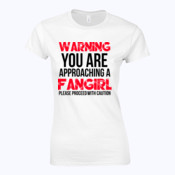 Warning Fangirl - Softstyle™ women's ringspun t-shirt