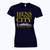Hens In The City - Softstyle™ women's ringspun t-shirt