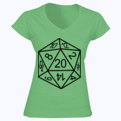 D20 Dice - Softstyle™ women's v-neck t-shirt