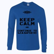 Keep Calm and Continue to Wander - Ultra Cotton™ adult long sleeve t-shirt