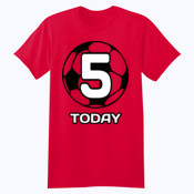 Customisable Football Birthday  - Softstyle™ youth ringspun t-shirt