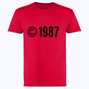 Customisable Copyright Birthdate - Softstyle™ adult ringspun t-shirt