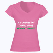 It's a Condescending Thing - Softstyle™ women's v-neck t-shirt