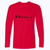 Hello - Softstyle™ long sleeve t-shirt
