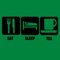 Eat Sleep Tea - Heavy Cotton 100% Cotton T Shirt Design