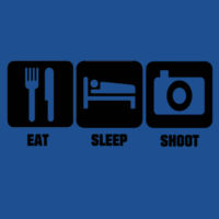 Eat, Sleep, Shoot - Heavy Cotton 100% Cotton T Shirt Design