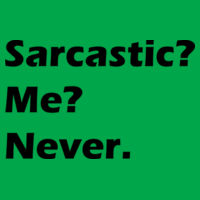 Sarcastic? - Softstyle™ women's ringspun t-shirt Design