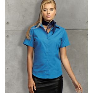 Women's short sleeve poplin blouse Thumbnail