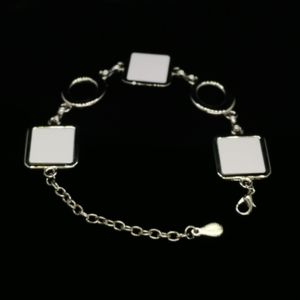 Bracelet With Three Square Charms Thumbnail
