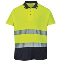 Hi-vis two-tone cotton Comfort polo shirt (S174) Thumbnail
