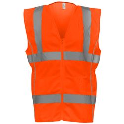 Women's hi-vis executive waistcoat (HVW180) Thumbnail