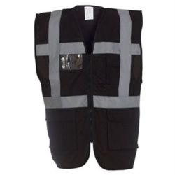 Multi-functional executive hi-vis waistcoat (HVW801) Thumbnail