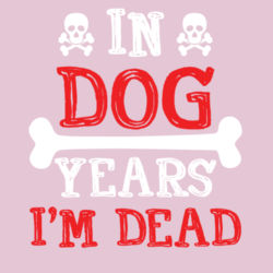 In Dog Years  - Softstyle™ women's ringspun t-shirt Design