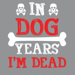 In Dog Years  - Softstyle™ adult ringspun t-shirt Design