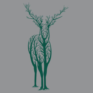Deer Tree - Softstyle™ adult ringspun t-shirt Design