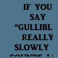 Gullible - Softstyle™ youth ringspun t-shirt Design