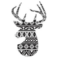 Nordic Deer - Towel City Long PJs in a Bag Design