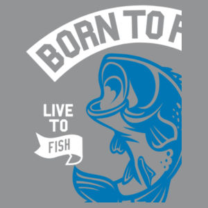 Born to Fish - Softstyle™ adult ringspun t-shirt Design