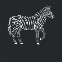 Zebra Bones - Softstyle™ adult ringspun t-shirt Design