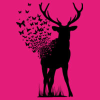 Butterfly Deer - Softstyle™ youth ringspun t-shirt Design