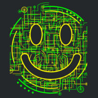 Electric Smiley - Softstyle® women's deep scoop t-shirt Design