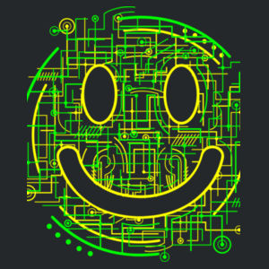 Electric Smiley - Softstyle™ women's tank top Design