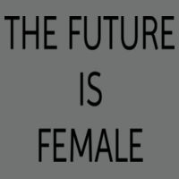 The Future Is Female - Softstyle® women's deep scoop t-shirt Design