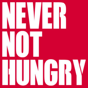 Never Not Hungry - Softstyle™ youth ringspun t-shirt Design