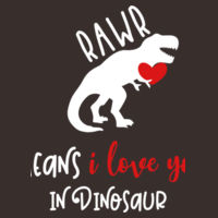Rawr means I love you in Dinosaur - Softstyle™ youth ringspun t-shirt Design