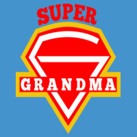 Super Grandma - Softstyle® women's deep scoop t-shirt Design