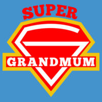 Super Grandmum - Softstyle® women's deep scoop t-shirt Design