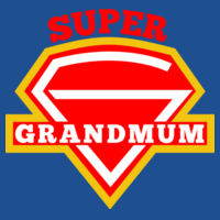 Super Grandmum - Softstyle™ adult ringspun t-shirt Design