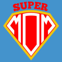 Super Mom - Softstyle® women's deep scoop t-shirt Design