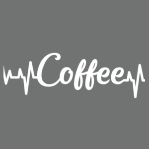 Coffee Heartbeat - Softstyle® women's deep scoop t-shirt Design