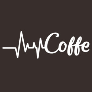 Coffee Heartbeat - Softstyle™ adult ringspun t-shirt Design