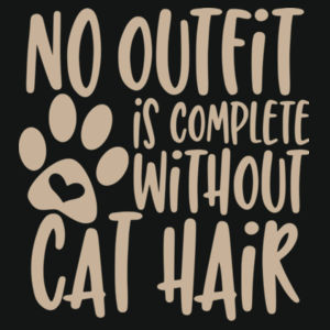No outfit is complete without cat hair - Varsity Hoodie Design