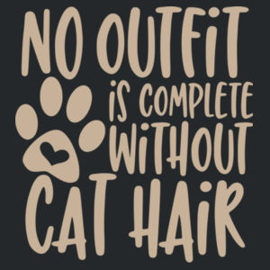 No outfit is complete without cat hair - Softstyle® women's deep scoop t-shirt Design
