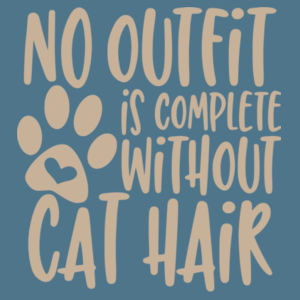 No outfit is complete without cat hair - Softstyle™ adult ringspun t-shirt Design