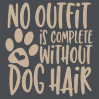 No outfit is complete without dog hair - Varsity Hoodie Design