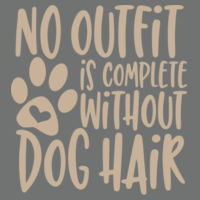 No outfit is complete without dog hair - Softstyle® women's deep scoop t-shirt Design