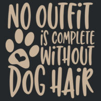 No outfit is complete without dog hair - Softstyle™ adult ringspun t-shirt Design