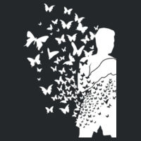 Float Like a Butterfly - Softstyle™ adult ringspun t-shirt Design