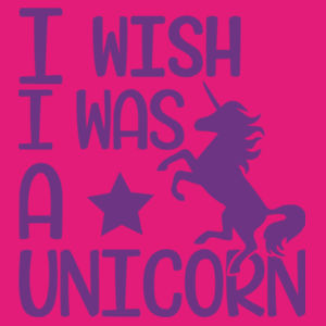 I wish I was a unicorn - Softstyle™ adult ringspun t-shirt Design