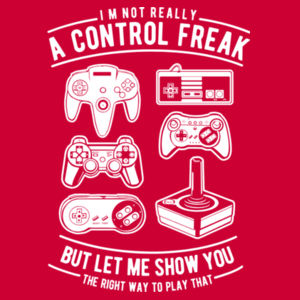 A Control Freak - College Hoodie Design