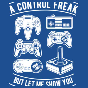 A Control Freak - DryBlend™ adult crew neck sweatshirt Design