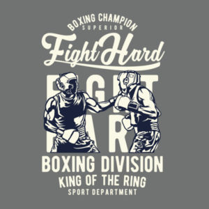 Fight Hard - Softstyle® women's deep scoop t-shirt Design