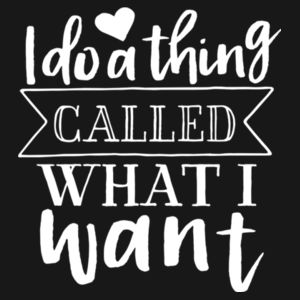 I Do What I Want - Gals oversized sleepy T Design